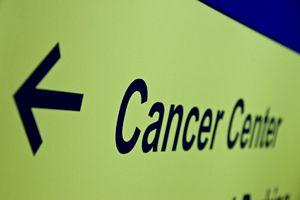 hospital cancer center sign