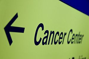 hospital cancer center sign